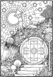 The Door From The Coloring Book Equinox Mandala Coloring Books
