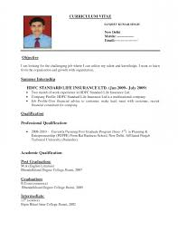 ... Beautiful Standard Resume Example Format Of ...