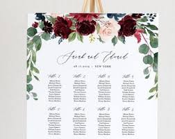 Etsy Wedding Seating Chart Wedding Chart Seating Sada Margarethaydon Com