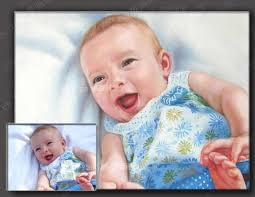 top art customize service oil painting custom child baby portrait from photo picture