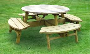 round picnic table rose round picnic table by wood s picnic tablecloth weights
