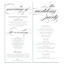 Booklet Program Template Wedding Ceremony Booklet Template