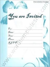 Microsoft Word Invitation Templates Free Download Free Microsoft Office Invitation Template Chanceinc Co