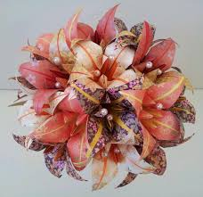 Paper Origami Flower Bouquet Paper Flower Bouquet Wedding Anniversary Origami Flowers Lily