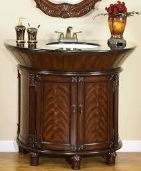 bathroom modern vanity designs double curvy set:  bathroom cheap bathroom vanities luxury curved brown wooden having round white sink on laminate flooring bathroom contemporary bathroom vanities ideas