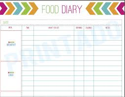 free food journal template best photos of daily food log print out free printable daily