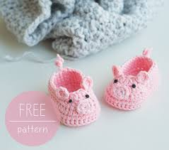Crochet Baby Shoes Pattern Cool Free Crochet Pattern Piggy Baby Booties Croby Patterns