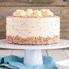 Simple Cake Frosting Designs Vanilla Cake With Vanilla Buttercream
