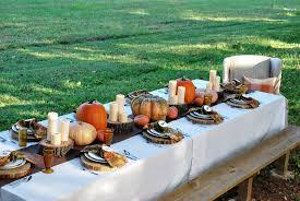 Outdoor Table Decor Grateful Harvest Thewhitebuffalostylingcocom