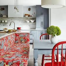 kitchen island with bench seating. Dining Bench On Back Of Island With Gray Farmhouse Table Kitchen Seating