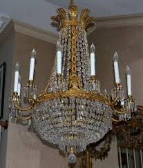 french charles x style bronze d ore and cut crystal chandelier a beautiful large brass