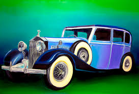 classic car painting vintage car by brittany prichard