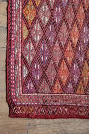 small vintage turkish runner rug hand woven with wool