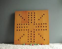 Wooden Games Room Wooden Game Board Vintage Hand Made Wooden Aggravation Game 93
