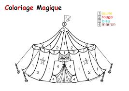 Coloriage Magique Cirque Maternelle