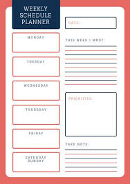 Weekly Planner Templates By Canva