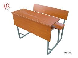 double seater classroom student wooden desk bench