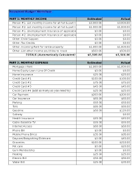 Personal Finance Budget Worksheets Expense Budget Template Personal Finance Forms Household Monthly