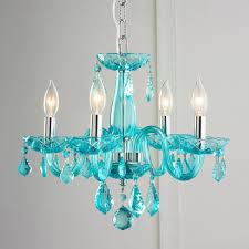 blue glass chandelier