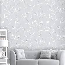 belgravia decor amelie leaf grey silver