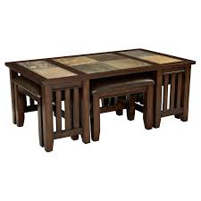 Coffee Table Stool T288 Glass Coffee Table In Cherry W Cappuccino Stools Beyond
