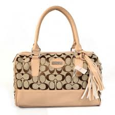 Coach Legacy Weekend In Signature Medium Apricot Satchels ADN