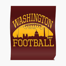 With the hiring of mayhew, who is black, washington became the first team in nfl history to concurrently have a minority general manager, head coach,. Washington Football Team Sport Poster By Bullish Bear Redbubble