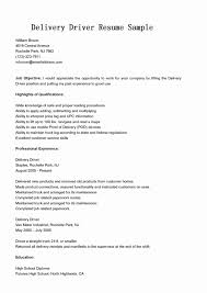 Delivery Driver Resume Examples Fuel Truck Driver Cover Letters Elegant Delivery Driver Resume 4