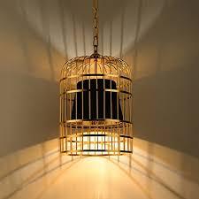 post modern simple chandelier creative fashion pendant lighting bar restaurant living room decoration iron bird cage ceiling light gold black
