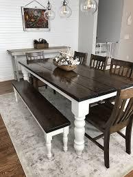 Custom built, solid wood Modern Farmhouse Dining Furniture. 7\u0027 L x ...