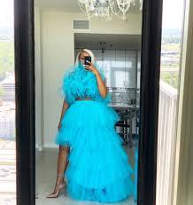 Pool blue orchid skirt set | Skirt set, Blue orchids, Formal dresses long