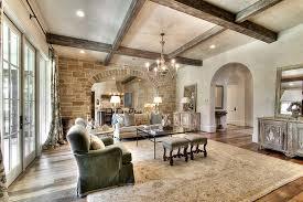 Rustic ceiling beams ideas family room traditional with wood floor wood  ceiling beams beige rug