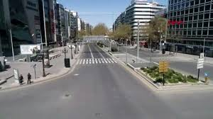 SOKAĞA ÇIKMA YASAĞI OLAN ANKARA HAVADAN BÖYLE GÖRÜNTÜLENDİ- 1 - Ankara