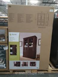 bayside furnishings glass door bookcase costco 7
