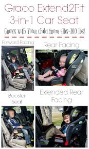 Graco Extend2Fit 3-in-1 Convertible Car Seat grows with your child! It fits babies and children from 4 lbs to 100 lbs.This is an excellent extended rear child