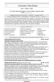 Consultant Cv Admin Project Consultant Cv And Resume Template Download C