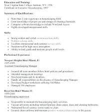 Executive Housekeeper Resume Hospital Housekeeper Resume Download