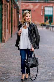 toronto fashion and lifestyle blogger is wearing a soia and kyo black leather motorcycle jacket with