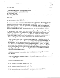 aaws kickbacks outside contributions cash incentives and lois fisher gsb reply to 06 15 98 letter from lois fisher general service board never addressed or discussed the minority report or its facts