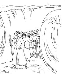 Moses Coloring Pages Crossing The Red Sea Coloringstar