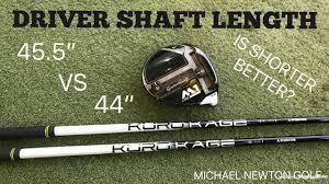 Driver Shaft Length Is Shorter Better Than Standard Length