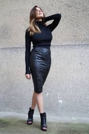 vegan leather pencil skirt fitted everyday skirt formal image 4