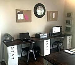office desk for 2. Two Person Desk Home Office Interior And Furniture Design  Astonishing 2 . For