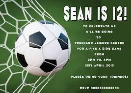 Football Invitation Template Free Printable Soccer Birthday Party Invitations Football Party