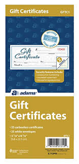 Gift Certificate Sign Amazon Com Adams Gift Certificate Book Carbonless Single Paper