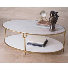Iron And Stone Coffee Table Katherine Hollywood Regency Ivory Stone Oval Coffee Table Kathy