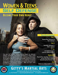 The Flyer Ads Catherine M Snyder Getty Martial Arts Self Defense Poster