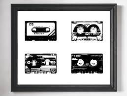cassette tape art print retro art retro print hipster art hipster room decor dorm wall art minimalist art hipster gift gifts for him