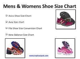 Avia Shoe Size Chart Buy Your Favorite Shoes By Using Shoe Size Conversion Chart