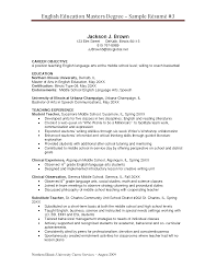 master resume sample